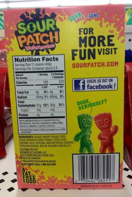 sour patch kids ingredients